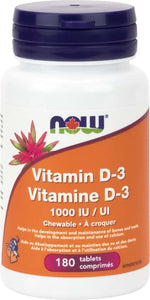 Vitamin D3 1000IU Chewable 180 tablets