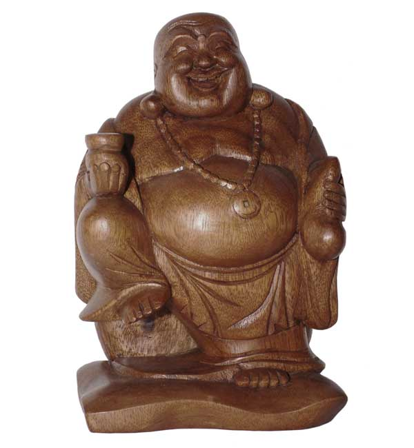 Happy Travelling Buddha Statue
