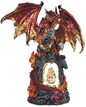 Red Dragon LED Statue