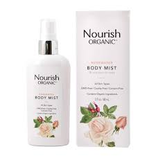 Nourish Organic Rosewater Body Mist 88ml