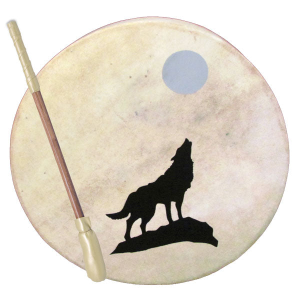 Wolf and Moon Tribal Drum