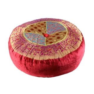 Meditation Cushion Round Red