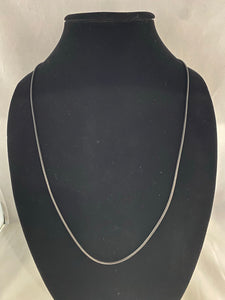 Black Cord Necklace 15""