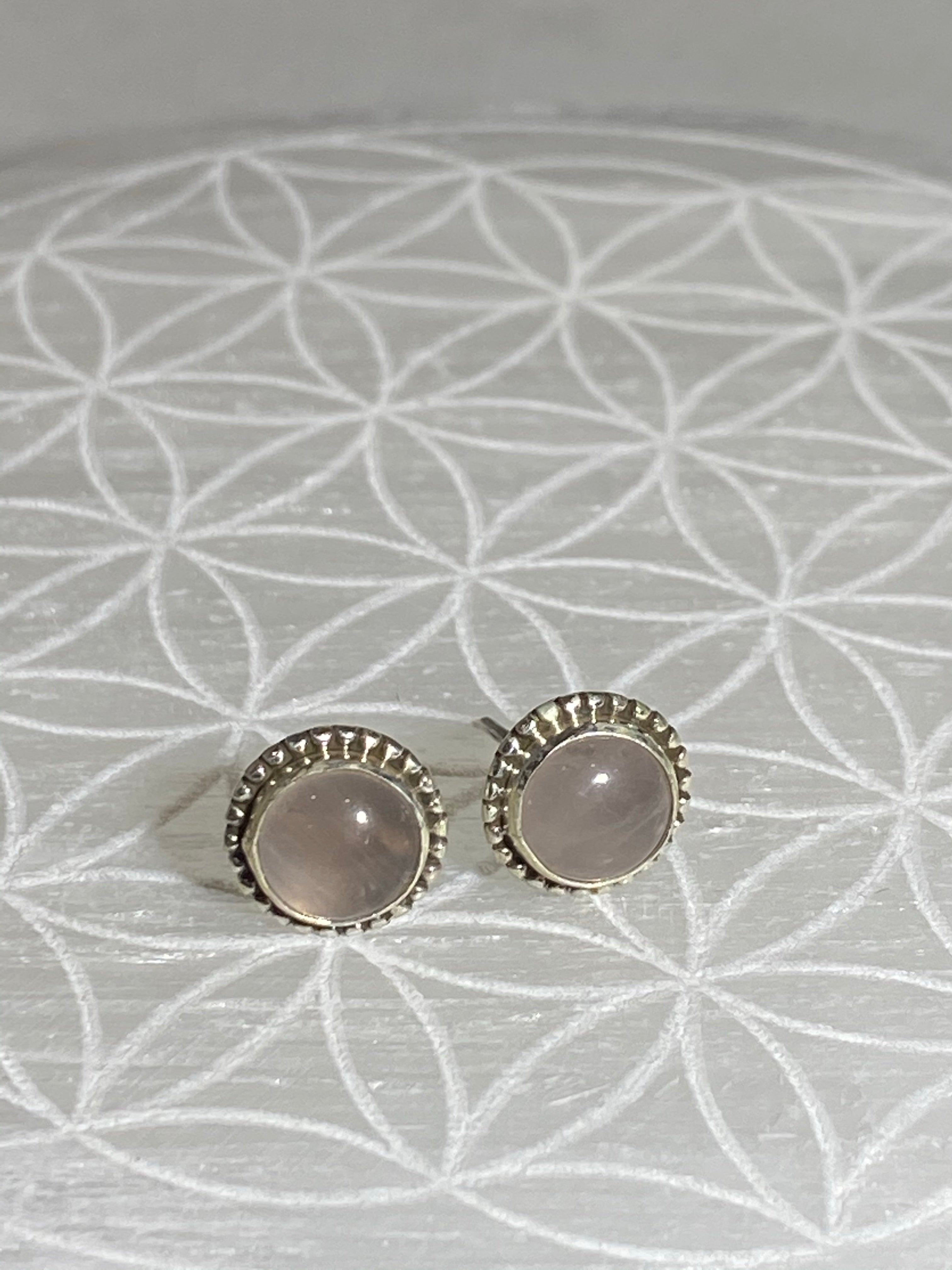 Stud Earrings Medium Rose Quartz