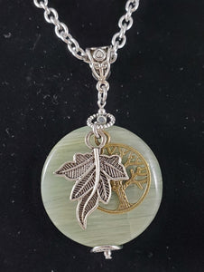 Green Jasper Maple Leaf