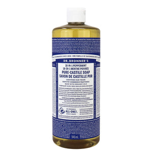 Dr. Bronner's 18-In-1 Pure Castile Soap - Peppermint