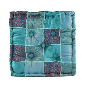 Meditation Cushion Square Blue