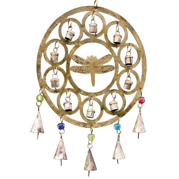 Rustic Bell Chime - Dragonfly