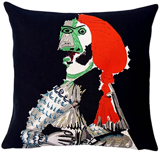 Musart on Pillows - Picasso Matador 1970 Jacquard Weave Pillows