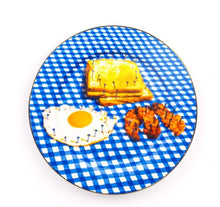 Load image into Gallery viewer, Seletti - Wears Toiletpaper Porcelain Plates: Porcelain Plate Breakfast Gold Border