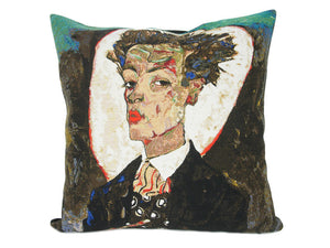 Musart on Pillows - Egon Schiele- Autoportrait