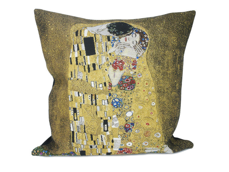 Musart on Pillows – Gustav Klimt Jacquard Weave Pillow Cover –The Kiss 2 (1907-1908)