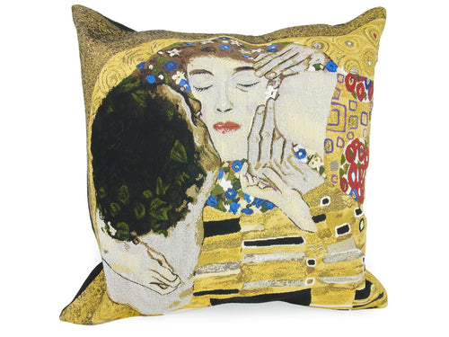 Musart on Pillows – Gustav Klimt Jacquard Weave Pillow Cover –The Kiss (1907-1908)