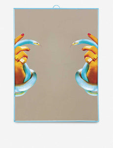 Seletti - Wears Toiletpaper Mirrors: Mirror Hands with Snakes - Plastic Mirror