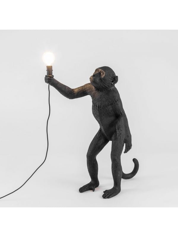 Seletti - Lighting: The Monkey Lamp Black Standing