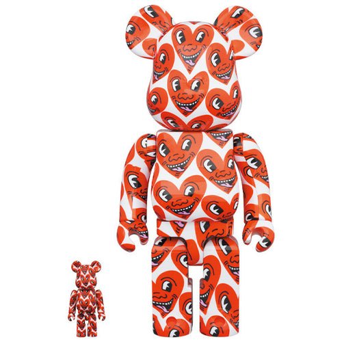 Bearbrick Keith Haring Heart Face ( 400%, 100%)  - Medicom Toys