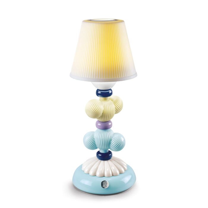 Lladró: Cactus Firefly Table Lamp Yellow and Blue