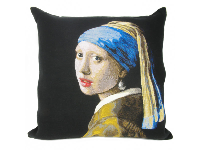 Musart on Pillows – Johannes Vermeer Pillow Cover – Girl with the Pearl Earring (c.