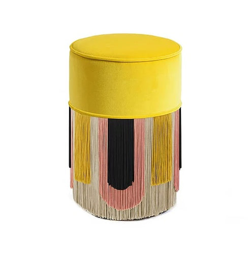 Lorenza Bozzoli - Furniture: Deco Yellow Pouf/Ottoman 30 cm