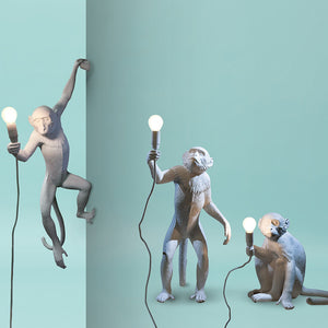 Seletti - Lighting: The Monkey Lamp White Hanging Left Version