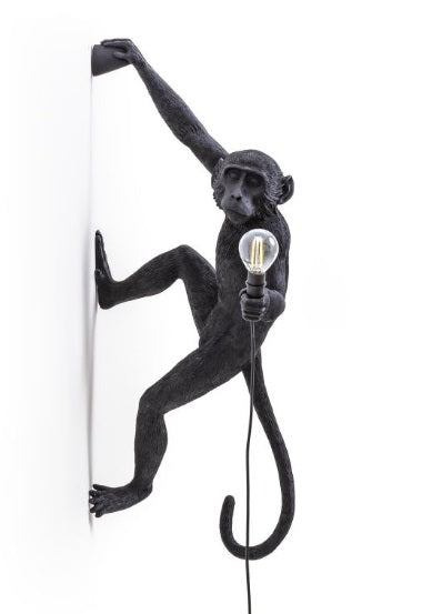 Seletti - Lighting: The Monkey Lamp Black Hanging Outdoor Right Version