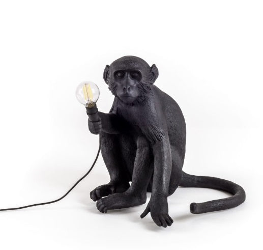 Seletti - Lighting: The Monkey Lamp Sitting Outdoor Version
