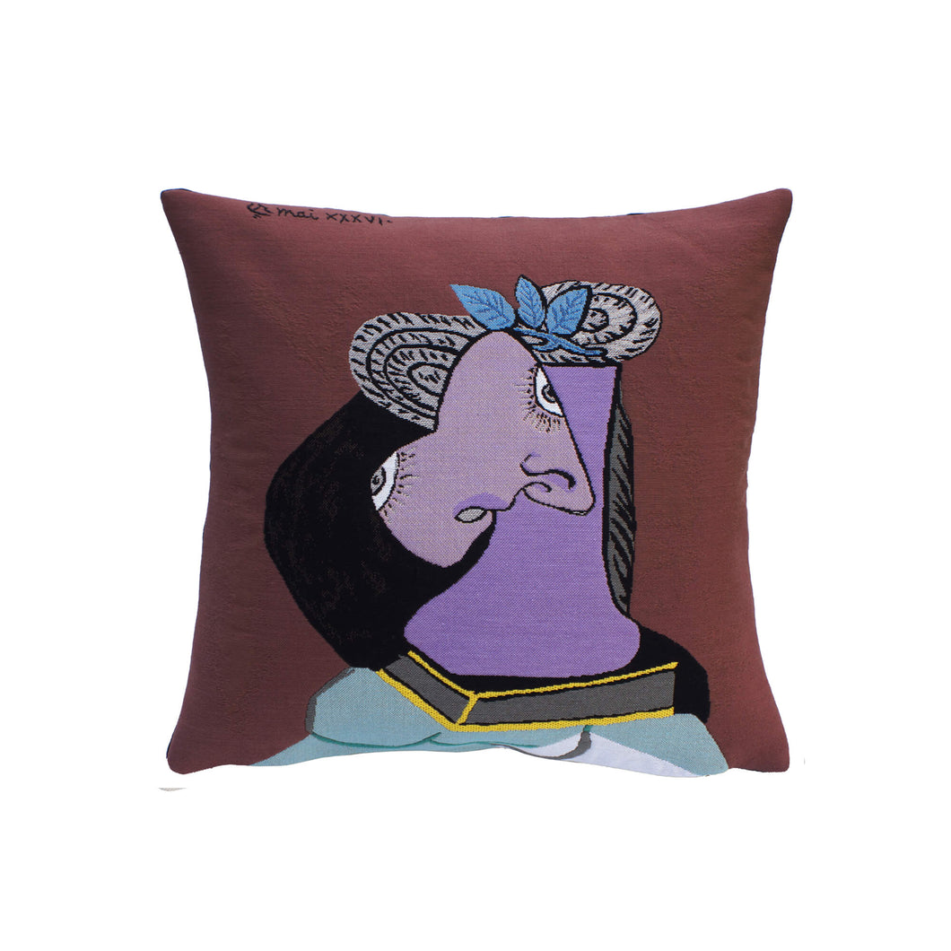 Musart on Pillows - Picasso Chapeau De Paille 1936 Jacquard Weave Pillows