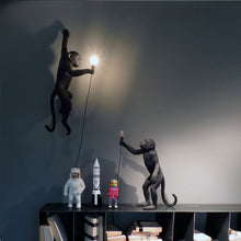 Load image into Gallery viewer, Seletti - Lighting: The Monkey Lamp Black Hanging Outdoor Right Version