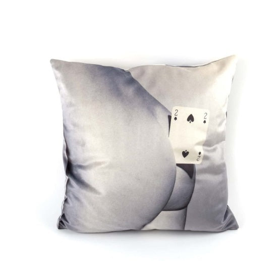 Seletti - Wears Toiletpaper Pillows: Pillow Two of Spades
