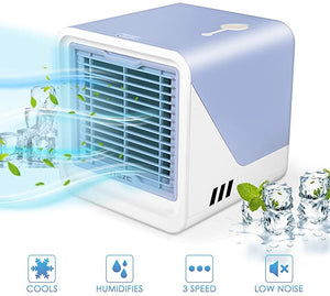 Air Cooler, Mini Portable Air Conditioner Fan Noiseless