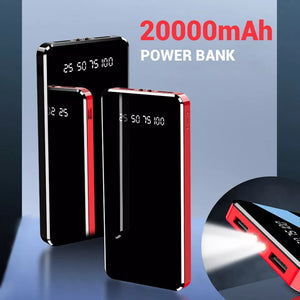 Digital Display Power Bank 20000mAh Dual USB LED Display Flash Light