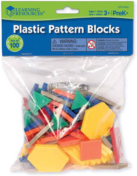 100pc Plastic Pattern Blocks