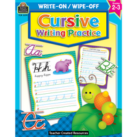 Cursive Writing Practice Write-On Wipe-Off Book