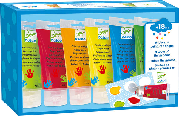 6 Tubes of Finger Paint (Multiple Styles Available)