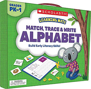 Match, Trace, Write Alphabet Learning Mats