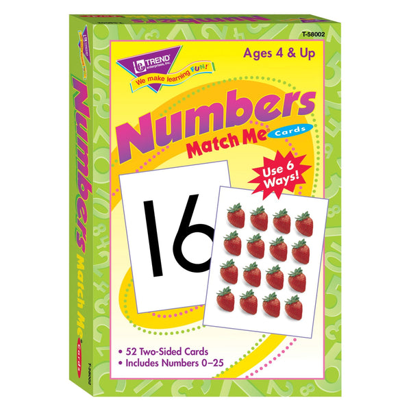Numbers Match Me Cards