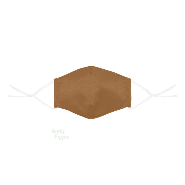 Brown Skin Tone Face Cover With Filter Pocket