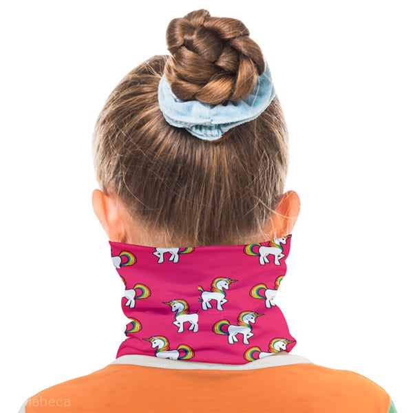 Pink Unicorns Kid's Morf Face Cover