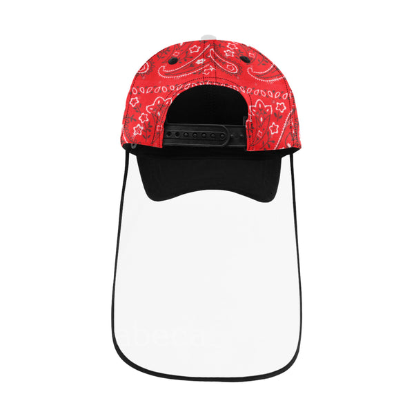 Bandana Baseball Hat Face Shield