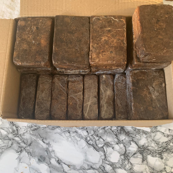 African Black Soap 100g Bars Wholesale Box of 50
