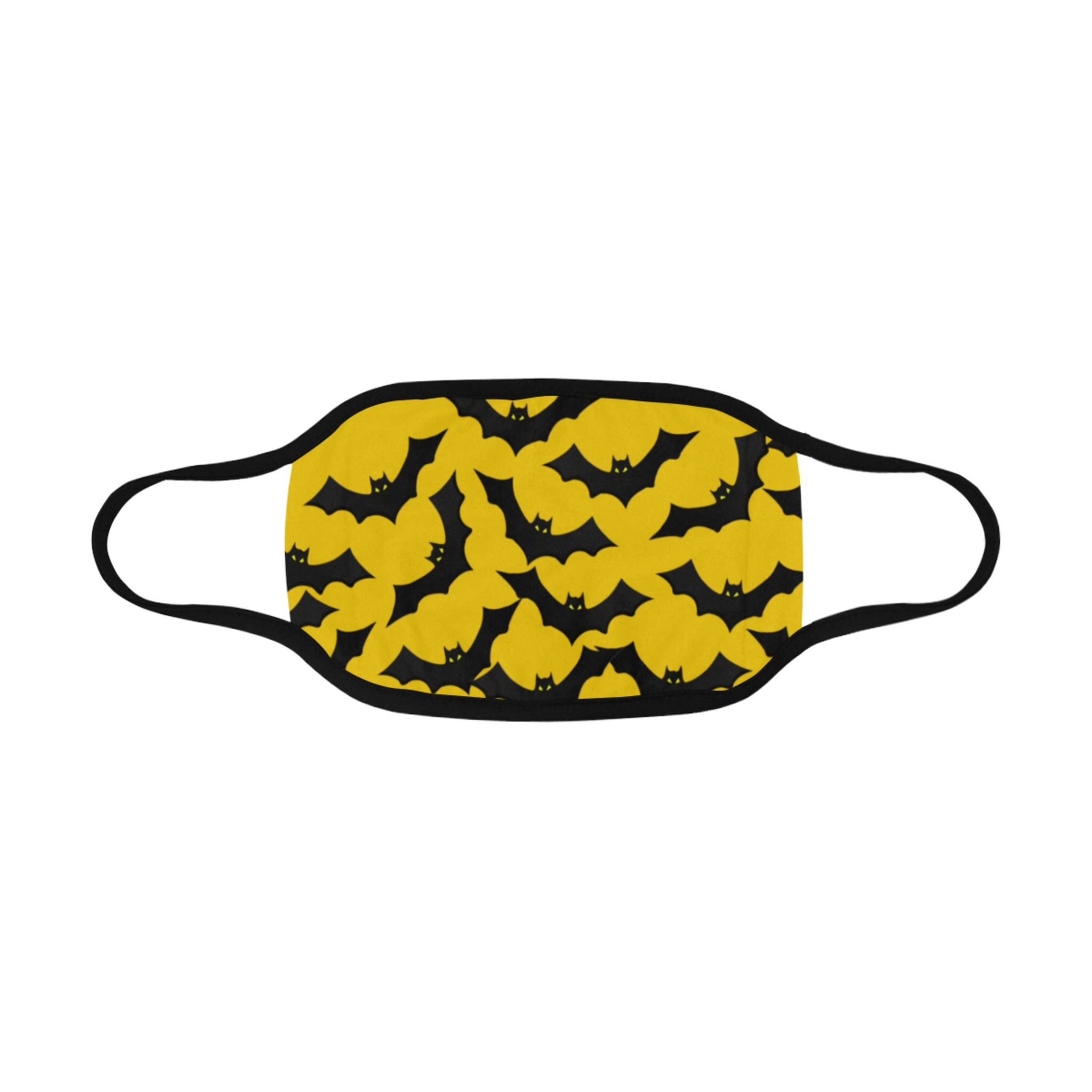 Yellow Bats Face Cover With Pocket