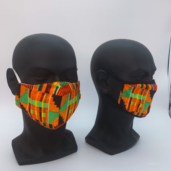 Kente Fitted Face Cover