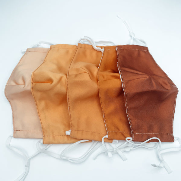 Brown Skin Tone Face Mask With Pocket For Insert Covers