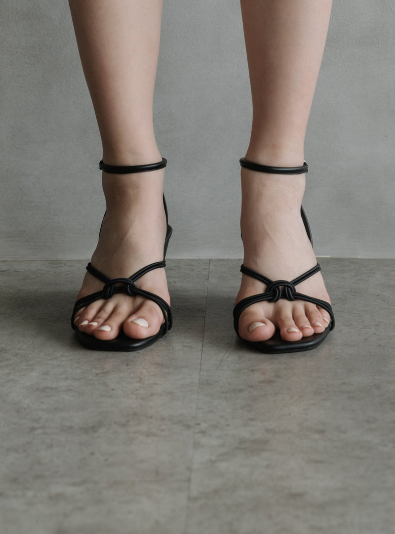 Alexa Strappy Wedges in Black