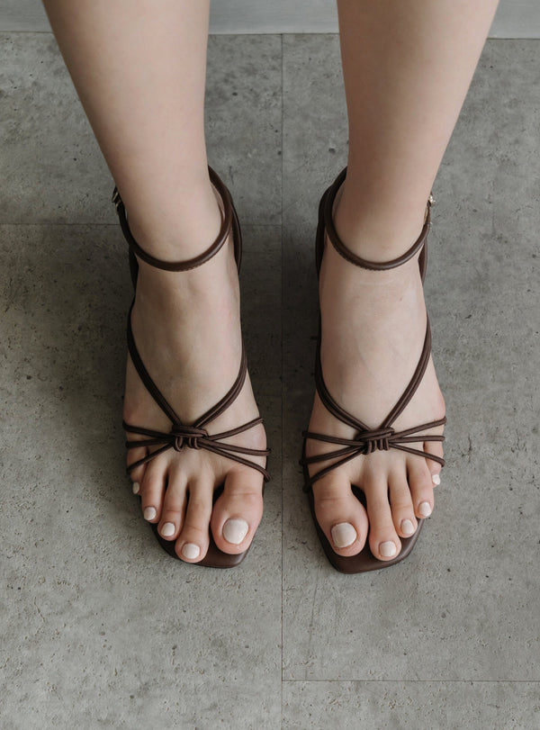 Alexa Strappy Wedges in Mocca