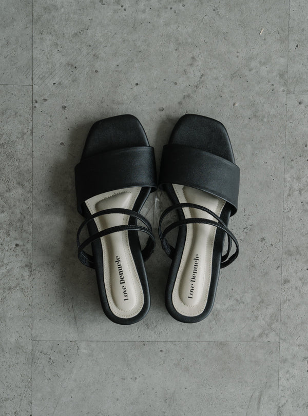 Perri Strappy Sandals in Black