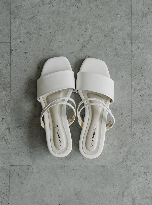 Perri Strappy Sandals in Broken White