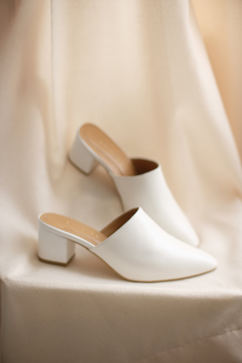 Basic Mules in White