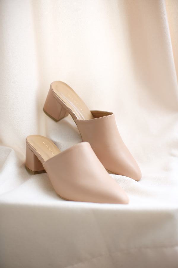 Basic Mules in True Nude