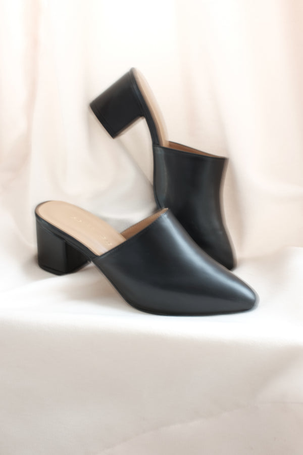 Basic Mules in Black